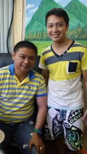 with Mayor Hubbert Christian Dolor