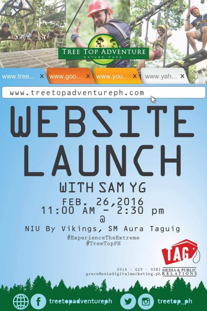 Treetop Adventure Website Launch
