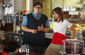 Scorpion; Katherine McPhee and Ari Stidham