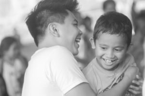 We pair a kid with a kuya/ate to play the famous Newspaper Dance