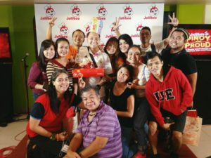With Ripple 8 and co-bloggers sa Jollibee #PinoyAndProud launch