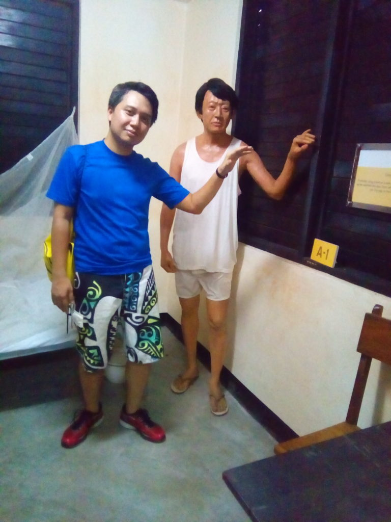 with Ninoy Aquino in his Solitary Confinement