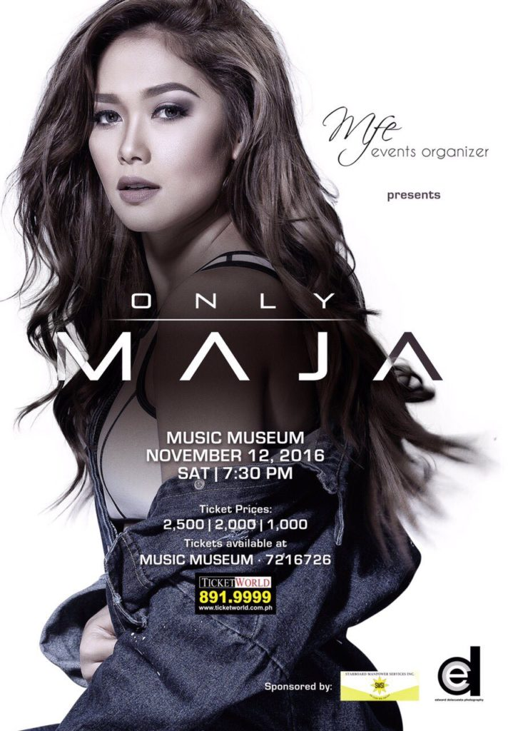 Only Maja; concert at The Music Museum on November 12