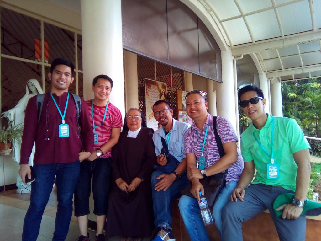 With sister Mary of Carmelite - Ozamiz