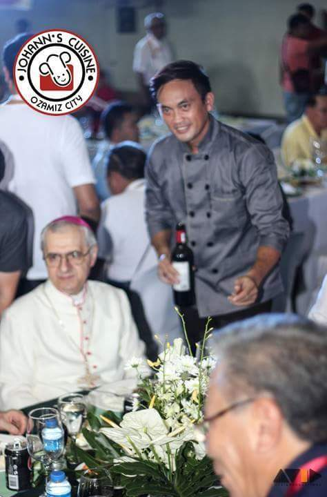 Chef Johann with the Papal Nuncio