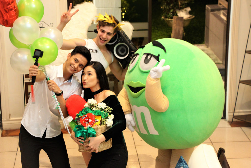 Social media's it couple Mark Agas and Kara Gozali enjoying the fun moment with the M&M's Fun First Move Green package