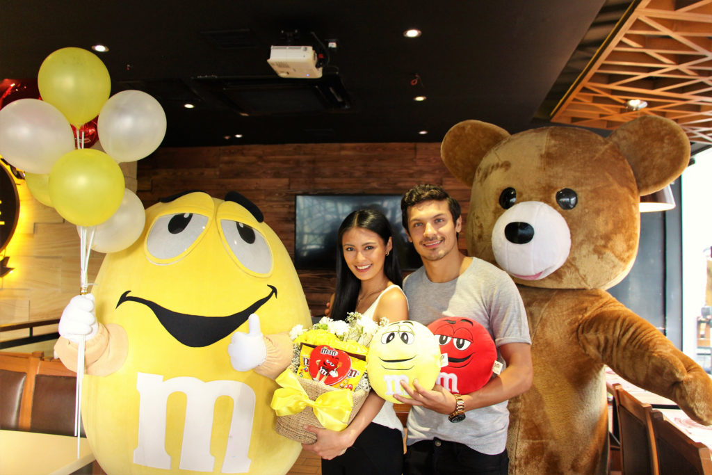 M&M's Fun First Move Yellow package delivered by Azkals player Misagh Bahadoran to his girlfriend, Sam Pinto.