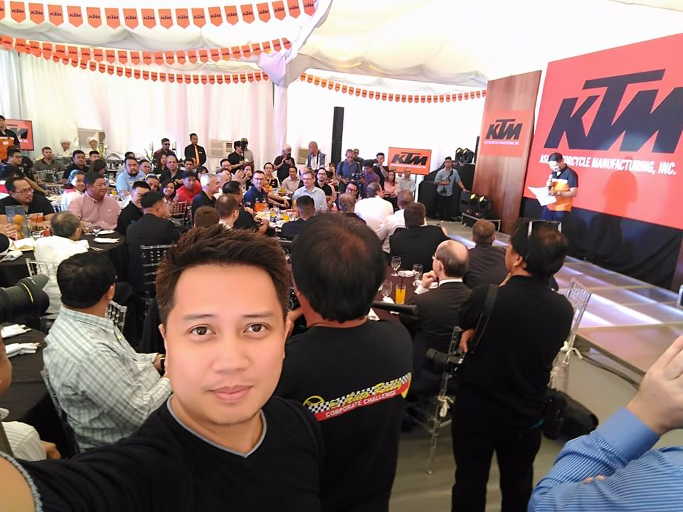 KTM launches its manufacturing plant by inviting distinguished guests and the media.