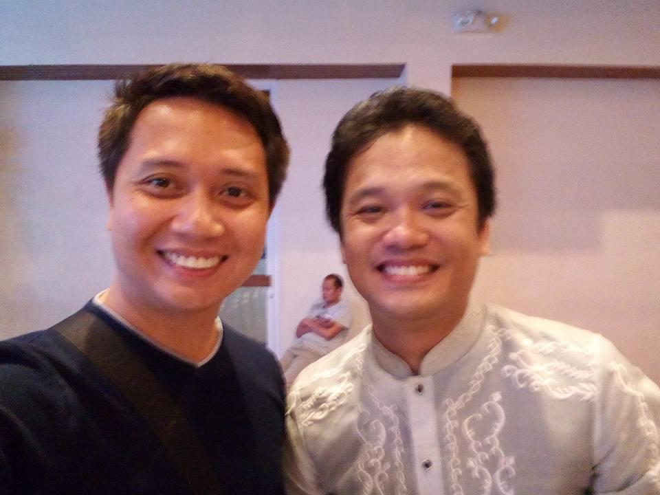 with Choirmaster William Lloyd Cordero