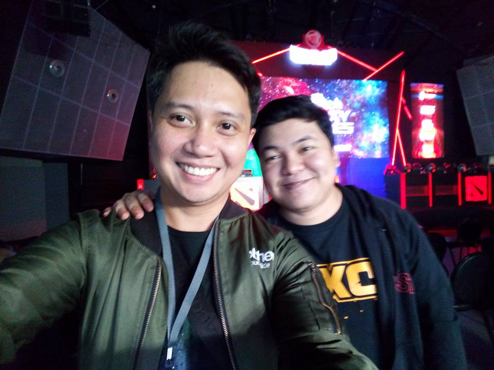 with Kuya Nic of WomboxCombo, professional caster