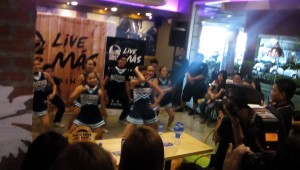 Adamson Pep Squad during the Live MAS launch