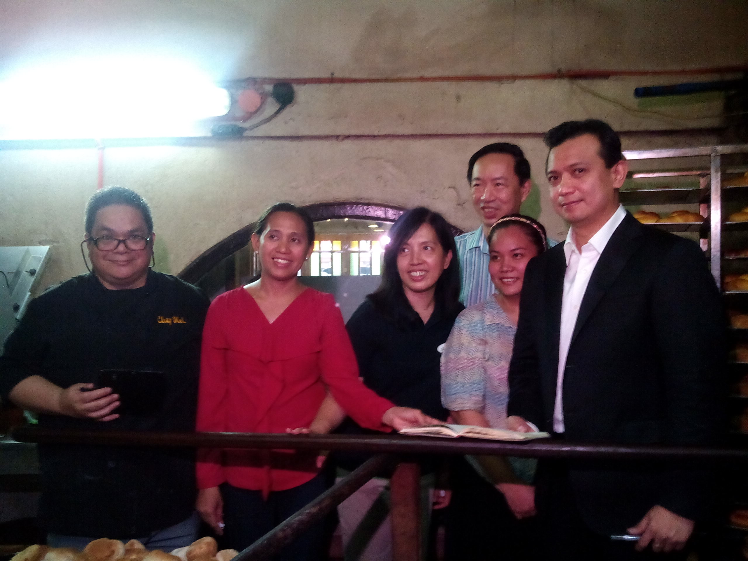 with staff and chef of Kamuning Bakery