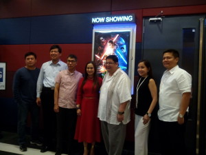 Mayor Arlene Arcillas to watch Star Wars The Force Awakens in Solenad Cinemas