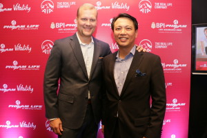 Philam Life CEO Axel Bromley and CMO Jimmy Javier welcome media guests to the Philam Life Vitality launch