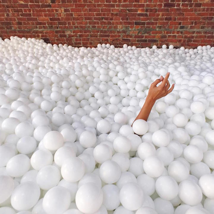 80,000 balls below the ground