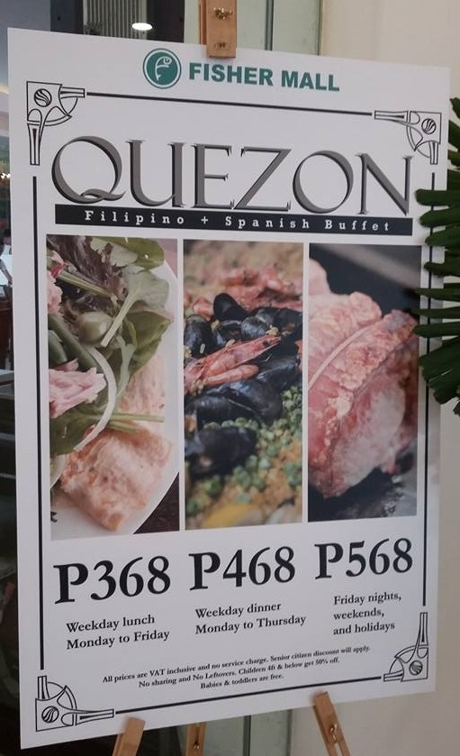 Quezon Buffet Rate