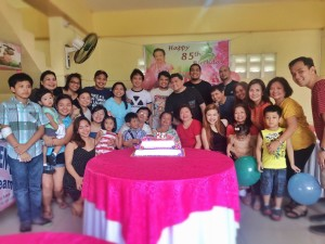 lola during 85th birthday