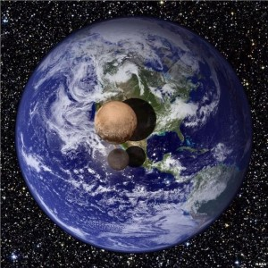 pluto compared to earth